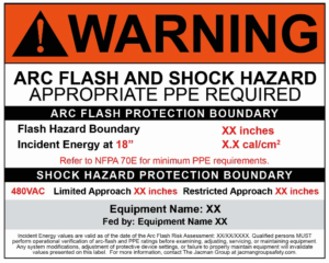 Arc Flash Risk Assessment Warning Label